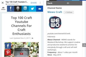100 Channel YouTube Craft